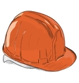 Hand-drawn constructions helmet icon EPS8 vector image