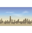 Seamless City Silhouettes of of tall buildings vector image
