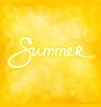 summer yellow bokeh background vector image