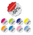 Paper Discount labels with different corner vector image vector image