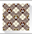 Animal seamless pattern collection with beagle dog vector image