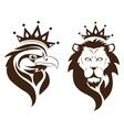 eagle lion symbol vector image vector image