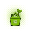 Eco house comics icon vector image