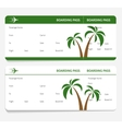 tickets leaves boarding pass vector image