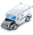 armored truck vector image vector image