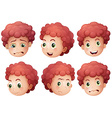 Boys expressions vector image