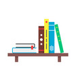 color simple book shelf vector image