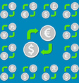 Currency exchange Set 1 Euro Dollar Pound Yen Yuan vector image