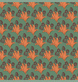 floral pattern in retro style for gift wrapping vector image