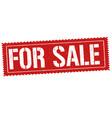 for sale grunge rubber stamp vector image
