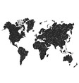 Hand sketch map of the world vector image