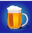 Mug fresh beer vector image