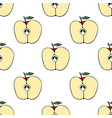 pattern with apples vector image