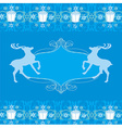 reindeer blue design vector image