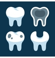 Teeth with Different Dental Problems Icons Set vector image
