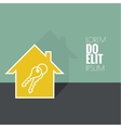 The concept of the house turnkey vector image