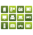 Flat Hi-tech technical equipment icons vector image