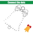 Connect the dots numbers children educational game vector image