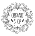 Background with cosmetic bottles Organic vector image