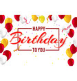 stylish greetings happy birthday creative car vector image