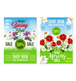 spring holiday sale posters web templates vector image