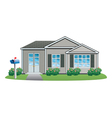 american house vector image