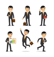 Businessman isolated vector image