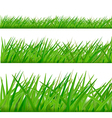 three grass borders vector image vector image