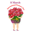 8 March International womens day Happy woman vector image