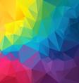 full color rainbow spectrum polygon triangular vector image