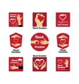 Blood donation labels and badges vector image