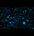 blue abstract background night sky with stars vector image