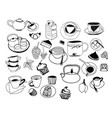collection of hand drawn sketches on the theme of vector image