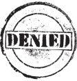 Denied stamp vector image