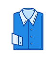 folded shirt line icon vector image