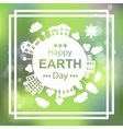 Happy Earth Day Eco Green Poster Design vector image