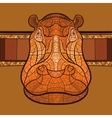 Hippo head with ethnic ornament vector image