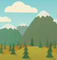 Horizontal nature seamless vector image