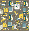 house cleaning seamless pattern vector image