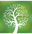Organic green tree logo eco emblem vector image