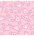 Seamless kawaii cartoon pattern with cute hearts vector image