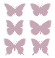 Shadows of butterflies eps10 vector image