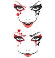 spooky halloween makeup vector image