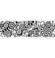 steampunk seamless black pattern vector image