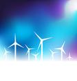 with wind turbine vector image