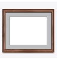 Wood photo frame isolated on white vector image