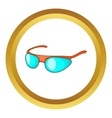 Bicycle sport glasses icon vector image