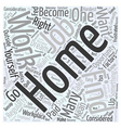 Should You Work from Home Word Cloud Concept vector image