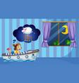 girl counting sheep at bedtime vector image vector image
