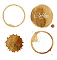 Coffee Stains Collection vector image vector image